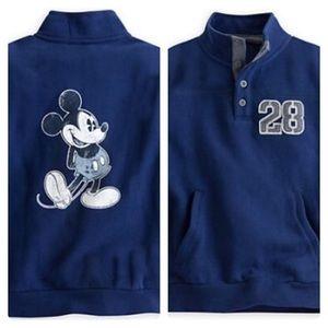 Disney Sweatshirt Mickey Mouse Pullover Blue Large